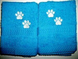 PAW PRINT EMBROIDERED FACE CLOTHS, 2 PC SET, BENEFITS Pets in need