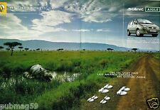 Publicité Advertising 2002 (2 pages) Renault Scénic Aigle