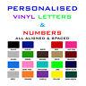 Vinyl letters & Numbers Personalised Shop Logo,Shop Sign.Boat SSR. Car sticker