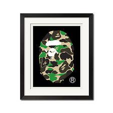 A Bathing Ape BAPE ABC Camo Black Poster Print