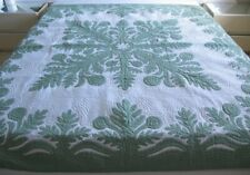 Hawaiian quilt FULL/TWIN BEDSPREAD BREADFRUIT 100% hand quilted/hand appliquéd