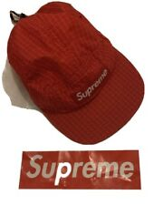 Supreme Reflective Ripstop Camp Cap - SS17 RED