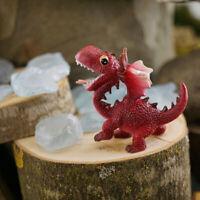 Miniature Dollhouse FAIRY GARDEN - Mini Red Dragon Smiling - Accessories
