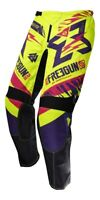 PANTALON CROSS SHOT FREEGUN TROPPER NEON JAUNE MAGENTA KID 10 11 ANS