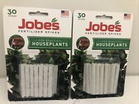 JOBES Fertilizer Spikes 60 Total HOUSEPLANTS 1.4 oz (39g) plant food at roots 🪴
