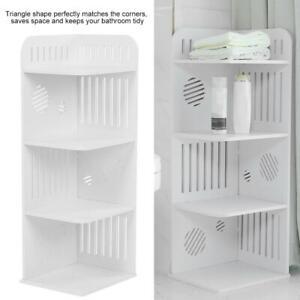 4 Tier Bathroom Cabinet Shelf Rack Unit Storage Caddy Corner Shelf Floor Stand