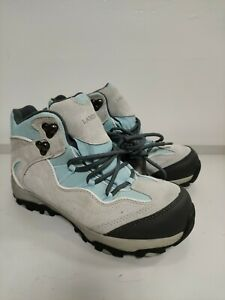 Lands' End hiking, walking shoes, UK6, leather, blue and grey, used in vgc