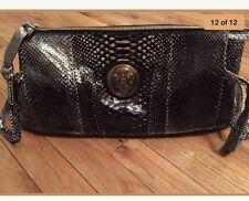 GUCCI Black Python Hysteria Clutch Handbag