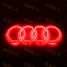 For Audi Chrome Grill Front Hood A3 A4 A5 A6 A7 Q3 Q5 Q7 RED LED Emblem - 28CM