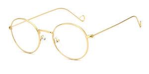 Vintage Metal Eyeglass Frames Full Rim Spectacles unisex Rx able 35