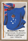 DRAPEAU British Empire britannique Australia Dominion Victoria FLAG CARD 30s