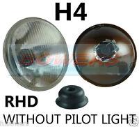 "7"" CLASSIC CAR SEALED BEAM HEADLAMP HEADLIGHT HALOGEN H4 CONVERSION W/OUT PILOT"