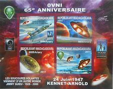 UFO observations 65. annivers. space Lollini Madagascar 2011 m/s Imperf MNH P061