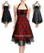 Lace Plus Size Halter Sleeve Dresses for Women