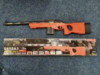 Kids Sniper Toy Gun Weapon Flashing light sound Scoop Stand/ assemble pcs Fun