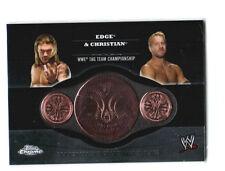 WWE Edge & Christian 2014 Topps Chrome Commemorative Tag Belt Plate Relic Card