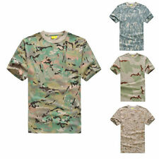 Cotton Short Sleeve Basic Tees Army T-Shirts for Men