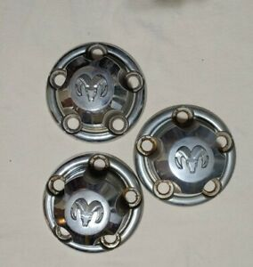 DODGE RAM 1500 & VAN 1993-2002 CHROME CENTER CAP OEM P/N 52038267 lot of 3