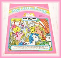 ❤️My Little Pony G1 Merchandise VTG 1985 Magazine Comic #4 One Autumn Day❤️