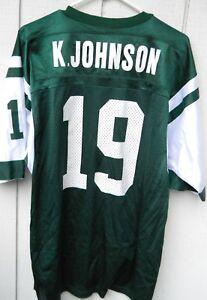 NEW YORK JETS KEYSHAWN JOHNSON # 19 FOOTBALL JERSEY MEN'S SIZE LRG(44) CHAMPION