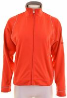 CHAMPION Womens Tracksuit Top Jacket Size 12 Medium Red Polyester  C106