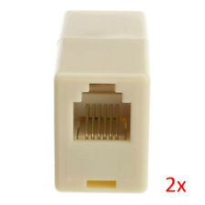 2pcs RJ12 6P6C Telephone Cable Cord Coupler / Extender / Connector / Joiner