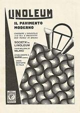W0071 Linoleum il pavimento moderno - Pubblicità 1930 - Advertising