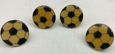 (4) Soccer Football Vintage Collector Memorabilia Pins Pinbacks