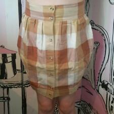 BNWT Size XS 8 Motel Rocks Topshop R&R Pink Orange Multi Check Tulip Razz Skirt