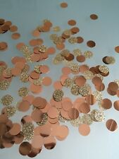 Rose Gold Glitter metallic Table Confetti wedding golden anniversary party 15g