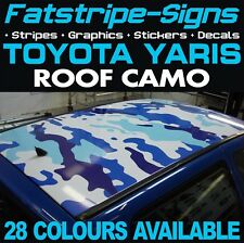 Toyota Yaris Camo techo de Gráficos Pegatinas Rayas Calcomanías TRD XP10 XP90 XP130