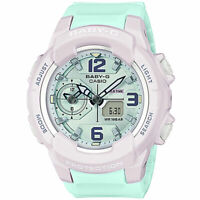 NEW Casio Baby-G Women's G-Shock BGA230PC-6B Analog-Digital Watch Green Lavender