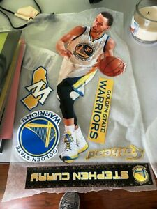 STEPHEN CURRY GOLDEN STATE WARRIORS 6 PC FATHEAD WALL GRAPHIC DECALS