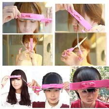 DIY Makeup Artifact Style Hair Cutting Guide Layers Bang Hair Trimmer Clip Combo