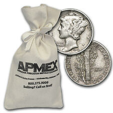 90% Silver Mercury Dime $100 Face-Value Bag - SKU #10427