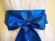 "2.5""X60"" ROYAL BLUE SATIN SASH BELT SELF TIE BOW UPDATE DRESS PARTY WEDDING"