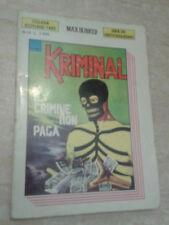 KRIMINAL. IL CRIMINE NON PAGA - 1990 - Collana Scotland Yard