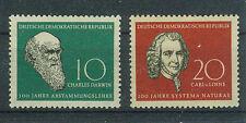 DDR Briefmarken 1958 Darwin - Linné Mi 631 und 632 ** postfrisch