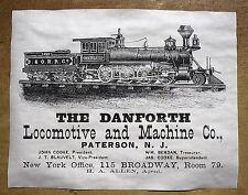 "(709) RAILROAD B&O R.R. DANFORTH LOCOMOTIVE MACHINE TRAIN REPRINT POSTER 11""X14"""