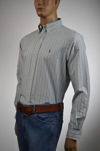 Ralph Lauren ClassicFit Oxford Green,Gray Stripe Shirt/Color Pony 16.5 36/37 NWT