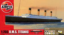 Airfix R.M.S. Titanic W/ Glue, Paints, & Brush 1:700 Model Ship A50164 BOX DAM.