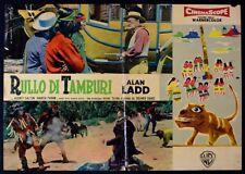 T101 FOTOBUSTA  RULLO DI TAMBURI ALAN LADD DELMER WESTERN 1