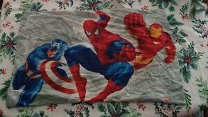 Marvel legends spiderman Pillowcase Captin America, Iron Man