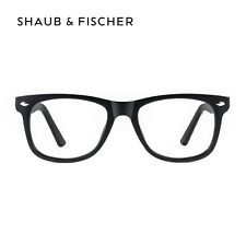 Shaub & Fischer Black Myopia Near Short Sighted Distance Glasses -0.25 to -6.00