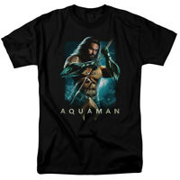 Aquaman Movie Trident Jason Momoa Officially Licensed Adult T-Shirt
