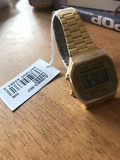 Casio Watch Unisex Gold Plated Digital Collection A168WG-9EF Brand New In Box