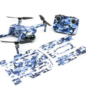 Blue Camo Drone Skin Wrap Stickers Decal for DJI Mavic Air 2
