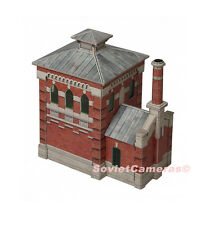1/87 HO Scale Building Oil-pump house Railway Railroad Cardboard Model Kit