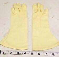 Vintage 1960's Van Raalte Yellow Stretch Gloves Nylon Size 6-1/2