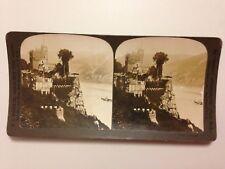 PHOTO 1903 PERFEC STEREOGRAPH H.C WHITE CO // CASTLE RHEINSTEIN GERMANY